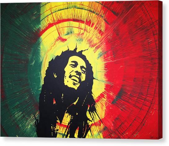 Bob Marley Canvas Print by Lance Bifoss
