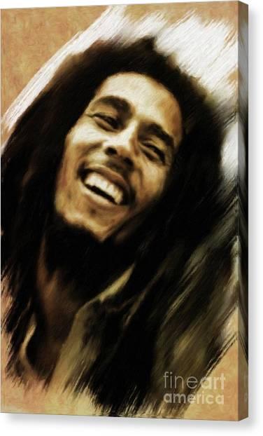 Stardom Canvas Print - Bob Marley, Music Legend by Mary Bassett