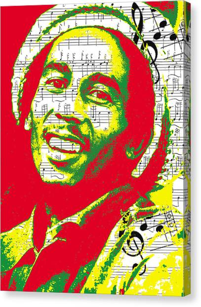 Bob Marley Musical Legend Canvas Print
