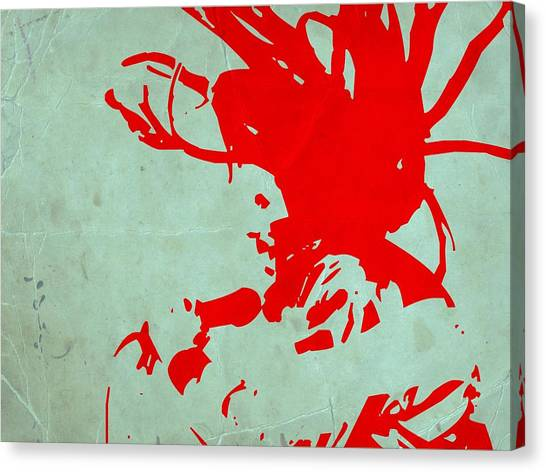 Jamaican Canvas Print - Bob Marley Red by Naxart Studio