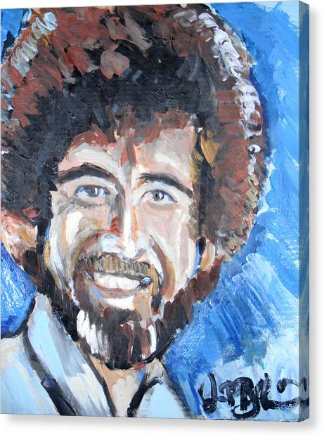 Bob Ross Canvas Print - Bob Ross  by Jon Baldwin  Art