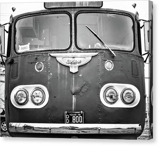 Bob Wills Tour Bus Bw Canvas Print