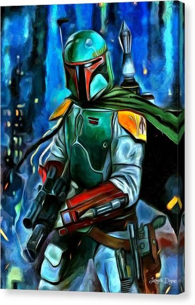 Jabba The Hutt Canvas Print - Boba Fett - Da by Leonardo Digenio