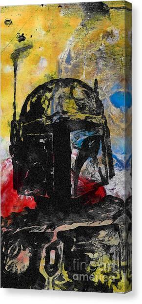 Boba Fett Canvas Print - Boba Fett Fan Art by Edward Fielding