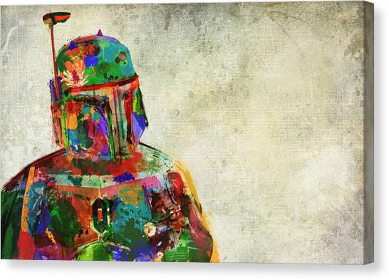 Impartial Canvas Print - Boba Fett In Colour by Mitch Boyce