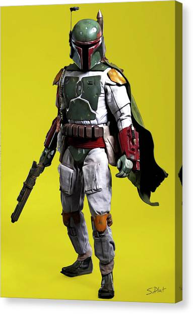 Jabba The Hutt Canvas Print - Boba Fett by Sebastian Plat