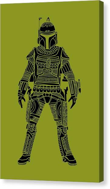Boba Fett Canvas Print - Boba Fett - Star Wars Art, Green by Studio Grafiikka