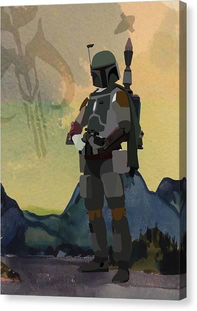 Boba Fett Canvas Print - Boba Fett Star Wars Character Quotes Poster by Lab No 4