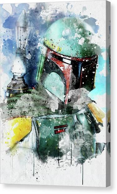 Boba Fett Canvas Print - Boba Fett - Star Wars by Jeffrey St Romain