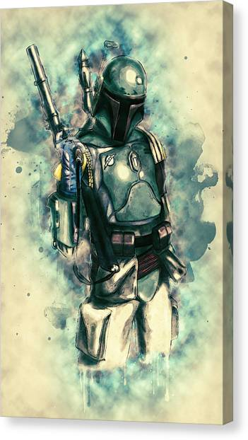 C-3po Canvas Print - Boba Fett by Zapista