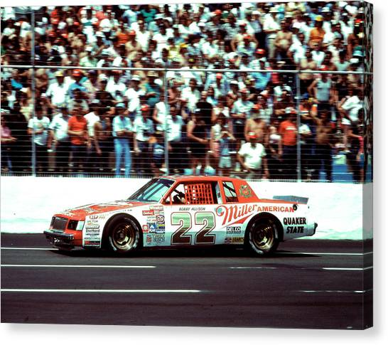 Daytona 500 Canvas Print - Bobby Allison # 22 Miller Beer Buick 1985 Martinsville by David Bryant