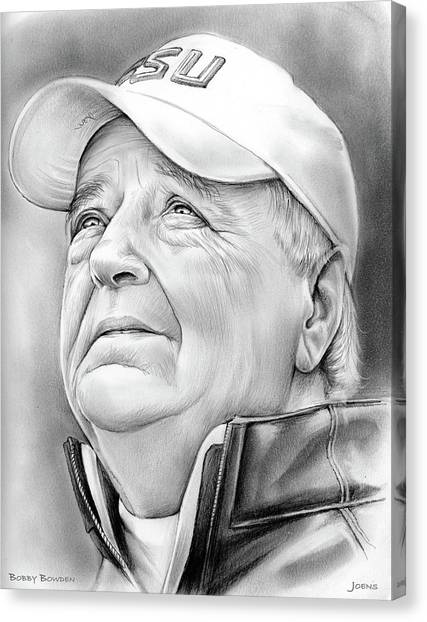 Alabama Canvas Print - Bobby Bowden by Greg Joens