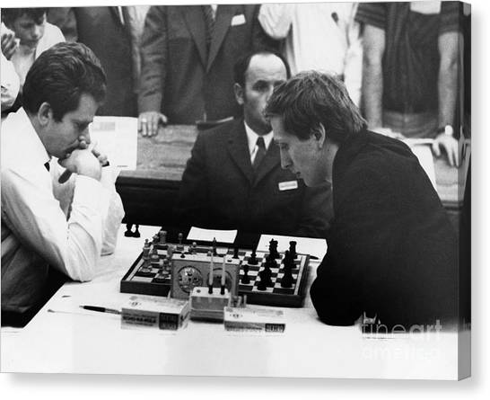 Cold War Canvas Print - Bobby Fischer (1943-2008) by Granger