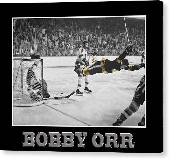 Bobby Orr Canvas Print - Bobby Orr 5 by Andrew Fare