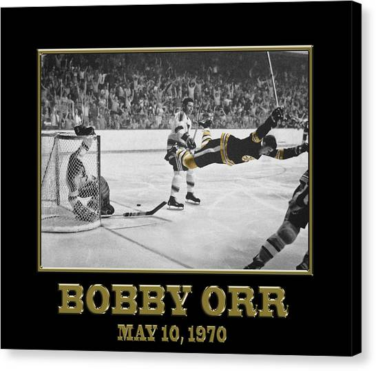 Bobby Orr Canvas Print - Bobby Orr 6 by Andrew Fare
