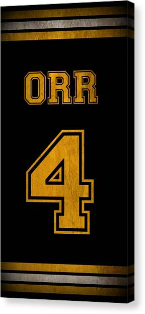 Bobby Orr Canvas Print - Bobby Orr Jersey by Positive Images