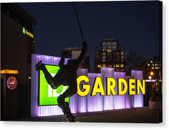 Bobby Orr Canvas Print - Bobby Orr Statue Td Garden Boston Ma by Toby McGuire