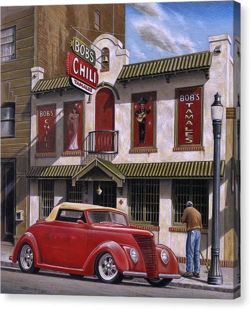 Street Scenes Canvas Print - Bob's Chili Parlor by Craig Shillam