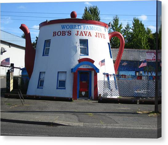 Bob's Java Jive Coffee Pot Canvas Print