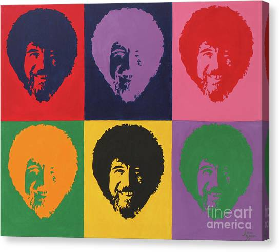 Bob Ross Canvas Print - Bobs by Sara Becker