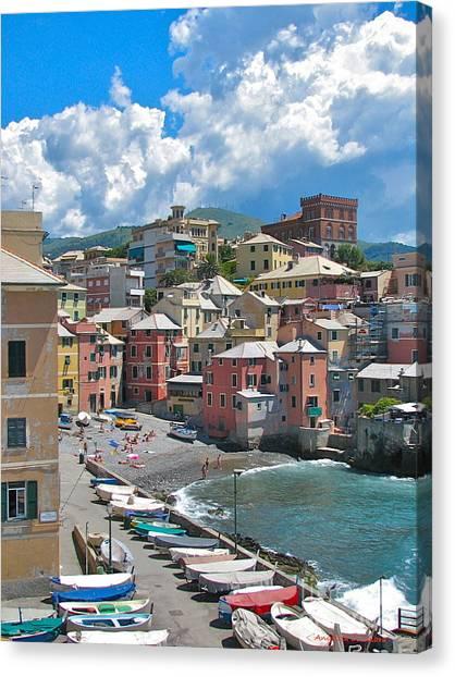 Boccadasse 2-genova, Italy Canvas Print