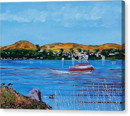 Bodega Bay From Campbell Cove Canvas Print