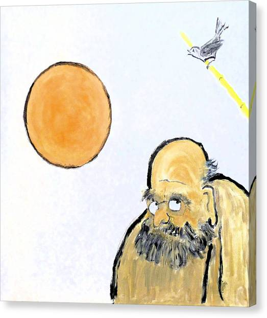 Bodhidharma Musing Silence Canvas Print