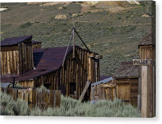 Canvas Print featuring the photograph Bodie 33 by Catherine Sobredo