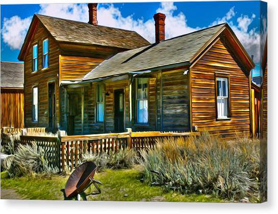 Bodie House Stylized Canvas Print
