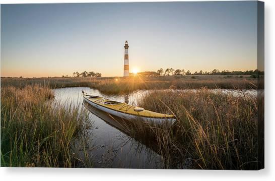 Bodie Island Kayak Canvas Print