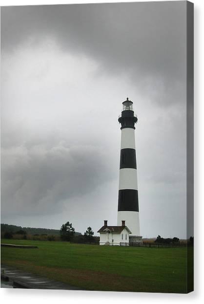Bodie Island Light Nags Head  Canvas Print by Richard Singleton