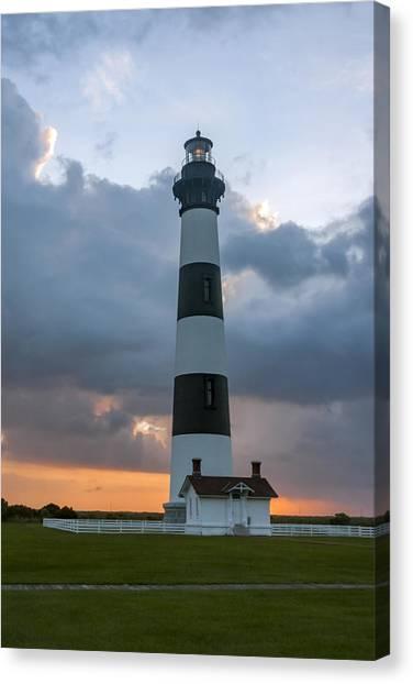Bodie Island Lighthouse Sunset Canvas Print