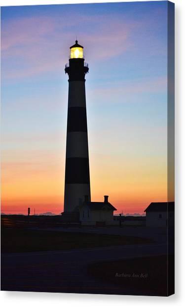 Bodie Lighthouse At Sunrise Canvas Print