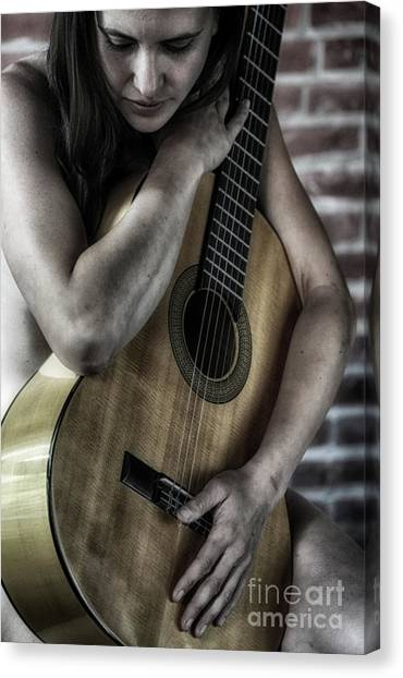 Classical Guitars Canvas Print - Bodies And Soul  by Steven Digman