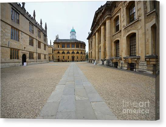 Libraries Canvas Print - Bodleian Library by Smart Aviation