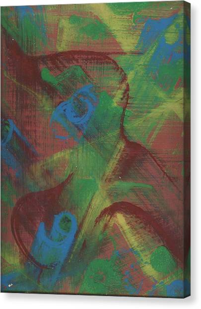Body Fusion Canvas Print by Cathy Minerva