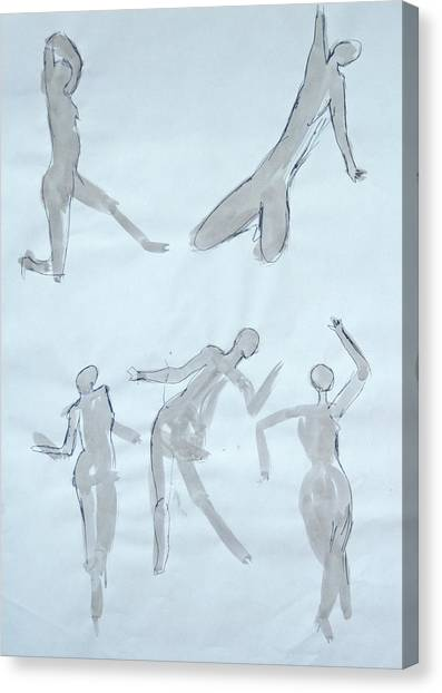 Body Sketches Canvas Print