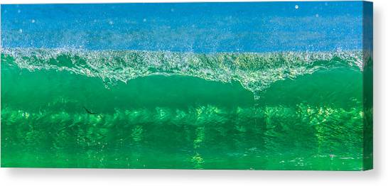 Body Surfing Canvas Print by Paula Porterfield-Izzo
