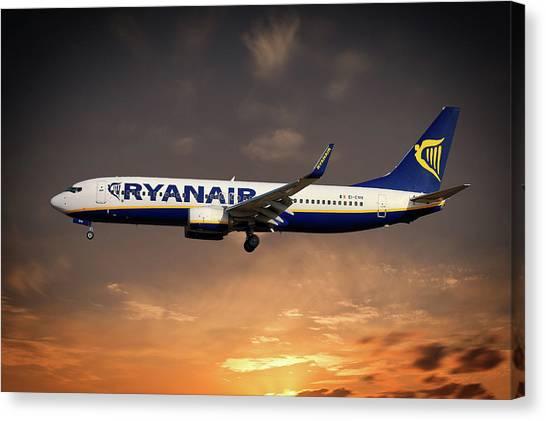 Boeing Canvas Print - Boeing 737 Ryanair by Smart Aviation