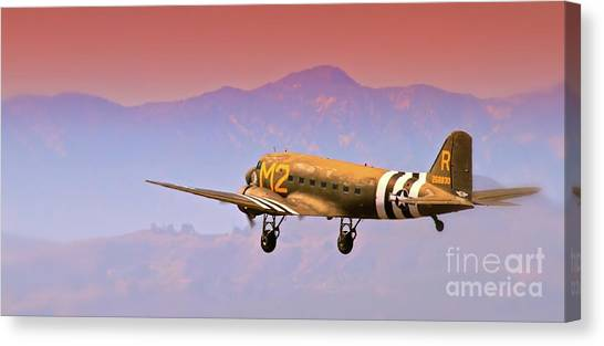 Boeing Douglas C-47 To Normandy June 6th 1944 Canvas Print