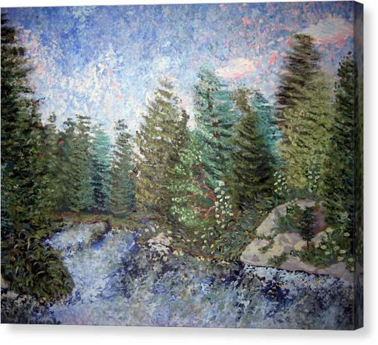 Bog River Morning Canvas Print