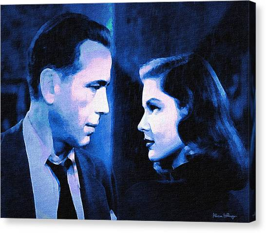 Bogart And Bacall - The Big Sleep Canvas Print