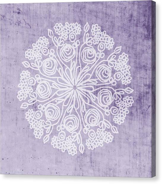 Mandala Canvas Print - Boho Floral Mandala 1- Art By Linda Woods by Linda Woods