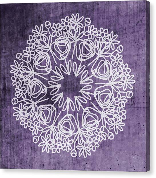 Mandala Canvas Print - Boho Floral Mandala 2- Art By Linda Woods by Linda Woods
