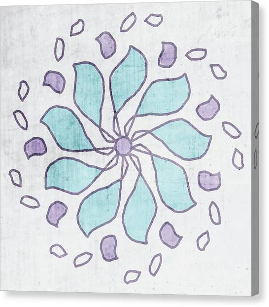 Mandala Canvas Print - Boho Floral Mandala 4- Art By Linda Woods by Linda Woods