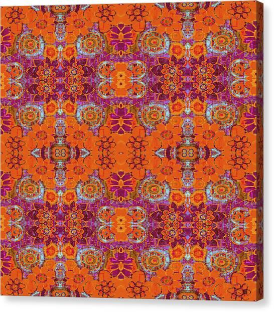 Boho Hippie Garden - Tangerine Canvas Print