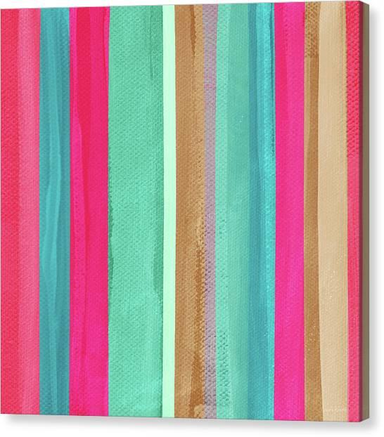 Stripe Canvas Print - Boho Stripe- Art By Linda Woods by Linda Woods