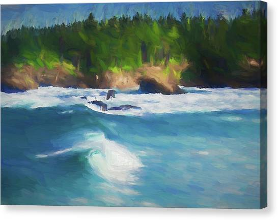 Boiler Bay Blues Canvas Print