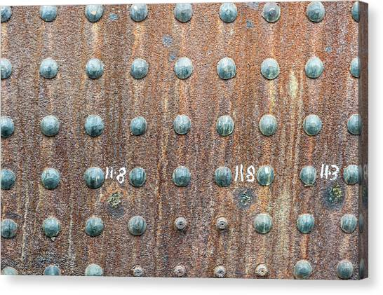 Boiler Rivets Canvas Print