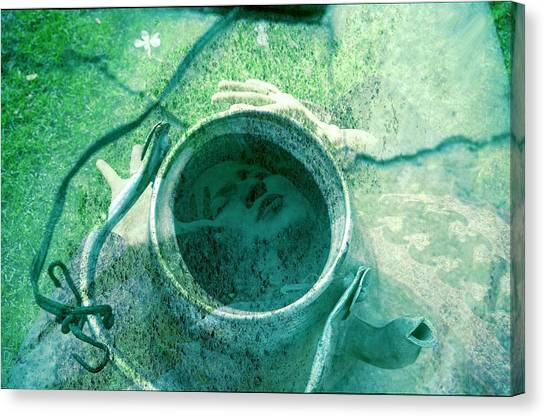 Boiling Through The Cracks Canvas Print by Ash Soomro-Irani